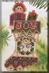 MHCS44 Mill Hill Charmed Ornament Kit Joyful Stocking (2004)
