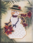 MHSC30 Mill Hill Charmed Ornament Kit Poinsettia Snow Charmer (2001)