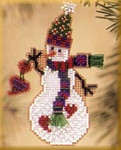 MHSC39 Mill Hill Charmed Ornament Kit Folk Heart Snow Charmer (2003)