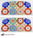 PB-314 Flower Mosaic 2 Sides 18 Mesh Purse PB-Adelaide The Meredith Collection