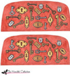 PB-482 Keys and Locks 2 Sides 18 Mesh Purse PB-Adelaide The Meredith Collection