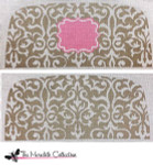 PB-485 Taupe Toile 2 Sides 13 Mesh Purse PB-Adelaide The Meredith Collection
