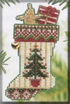 MHCS48 Mill Hill Charmed Ornament Kit Evergreen Stocking (2004)