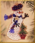 MHSC40 Mill Hill Charmed Ornament Kit Holiday Tree Snow Charmer (2003)