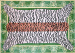 R-53 Tiger Skin on Emerald Bkg. - Gold Braid Border 36 x 51 13 Mesh Rug The Meredith Collection