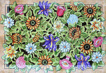 R-1 Summer Floral Collage 26 x 38 10 Mesh Rug The Meredith Collection