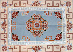 R-6a Chinese Floral - French Blue 31 x 43 10 Mesh Rug The Meredith Collection