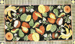 R-43 Fruit & Flower Collage - Black Background 25 x 40 10 Mesh Rug The Meredith Collection