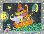 R-36 Moonlight Noah's Ark 25 x 32 10 Mesh Rug The Meredith Collection