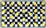 R-59 Lemons and Checks 29 x 46 10  Mesh Rug The Meredith Collection