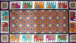 R-95 Royal Elephant 21 x 38 10  Mesh Rug The Meredith Collection