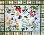 R-62 Hummingbirds 43 x 55 13 Mesh Rug The Meredith Collection