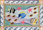 R-65 Underwater Tropical Fish 30 x 42 10 Mesh Rug The Meredith Collection