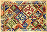 R-71 Oriental Patchwork 33 x 60 10 Mesh Rug The Meredith Collection