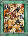 R-74 Dog Collage 28x35 10  Mesh Rug The Meredith Collection