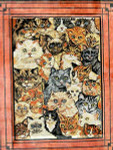 R-75 Cat Collage 28x35 10 Mesh Rug The Meredith Collection