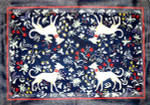 R-77 Tapestry Hounds 33 x 46 1/2 13 Mesh Rug The Meredith Collection