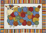 R-88 Colorful Coat - Sheep 26 x 36 10 Mesh Rug The Meredith Collection