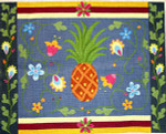 R-90 Hawaiian Welcome 32 x 40 10 Mesh Rug The Meredith Collection