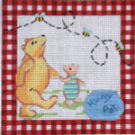 S-29 Winnie the Pooh Tooth Fairy 6 x 6 13 Mesh SIGN The Meredith Collection