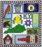 T-2k Kentucky State Sampler 4 1/2 x 5 18 Mesh The Meredith Collection