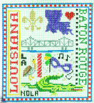T-2L L Louisiana City Sampler 4 1/2 x 5 18 Mesh The Meredith Collection