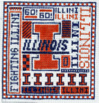 T-40il University of Illinois 4 1/2 x 5 18 Mesh The Meredith Collection