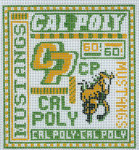 T-40cp University of California Cal Poly 4 1/2 x 5 18 Mesh The Meredith Collection