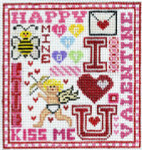 T-2v Valentine Sampler 4 1/2 x 5 18 Mesh The Meredith Collection