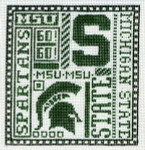 T-40ms Michigan State 4 1/2 x 5 18 Mesh The Meredith Collection