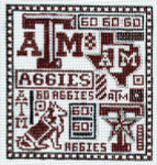T-40ta Texas A & M 4 1/2 x 5 18 Mesh The Meredith Collection