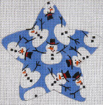 XO-101j Star with Snowmen 18 Mesh The Meredith Collection