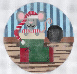 "XO-172d Sock Mouse 5"" Round 13 Mesh The Meredith Collection"