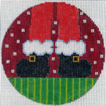 """XO-174a Santa's Feet 5"""" Round 13 Mesh The Meredith Collection"""