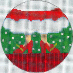 """XO-174b Mrs. Claus Feet 5"""" Round 13 Mesh The Meredith Collection"""