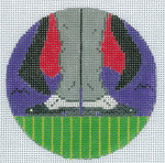 """XO-174o Dracula's Shoes 5"""" Round 13 Mesh The Meredith Collection"""