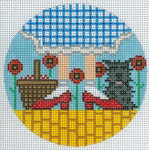 "XO-176a Dorothy and Toto 5"" Round 13 Mesh The Meredith Collection"