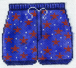 XO-178t Star Swim Trunks 3 x 3 1/2 18 Mesh The Meredith Collection