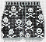 XO-180d Boxers - Skull and Crossbones 3 x 3 1/2 18 Mesh The Meredith Collection