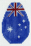 KO-12g Australian Flag Canvas and Leather 18 Mesh KEY CHAIN - OVAL The Meredith Collection