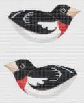LL307D Labors Of Love Red Breasted Grosbeak 18 Mesh 5x2.5 each (2)
