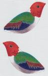 LL307F Labors Of Love Orange Headed Hummingbird 18 Mesh 4.5x3.75 each (2)