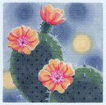 LL318 Cactus in Bloom 18	Mesh 6x6 Labors Of Love