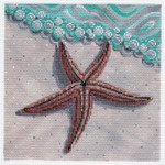LL319 Star Fish on the Beach 18	Mesh 6x6 Labors Of Love