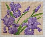 LL582 Irises 12x9.5 Labors Of Love 18 Mesh