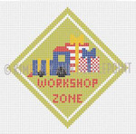 SC-12 Workshop Zone, Ornament #18 4X4 KIMBERLY ANN NEEDLEPOINT