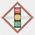 SC-10 Ho Ho Ho Lights, Ornament #18 4X4 KIMBERLY ANN NEEDLEPOINT