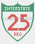 SC-05 Interstate 25, Ornament #18 4X4 KIMBERLY ANN NEEDLEPOINT
