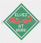 SC-02 Elves at Work, Ornament #18 4X4 KIMBERLY ANN NEEDLEPOINT