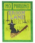 HSS-12 No Parking- Broom Lane, Ornament #18 3X4 KIMBERLY ANN NEEDLEPOINT